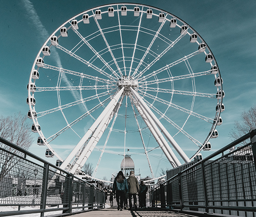 Ferris wheel in Old Port of Montreal to show community engagement by McGil