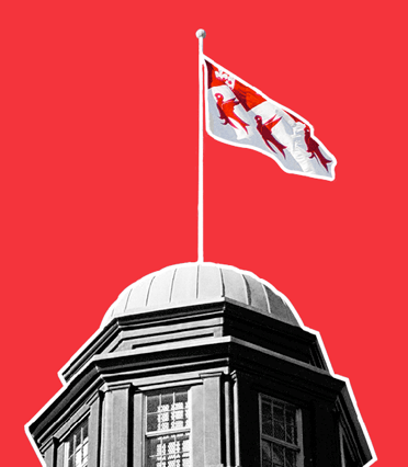 MCGill University Flag on top of the Arts building